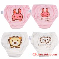 Closecret Kids Series Baby Underwear Little Girls' & Boys' Cotton Bloomers Panties (Pack of 4) thumbnail image