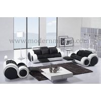 Modern Sectional Sofa Faux Leather Couch Living Room Furniture Ottoman Storage