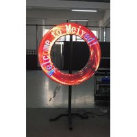 Creative customized led display panel P4 sector led module any attractive shape