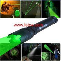 Free Shipping Green Laser Designator Super 50mw Power Adjustable Beam Laser Torch Flashlight.