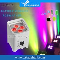 2018 stage par led par light/Stage light Rechargeable Battery IR Wireless/dipper light