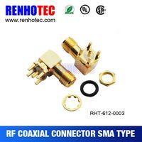sma connector right angle sma bulkhead connector thumbnail image