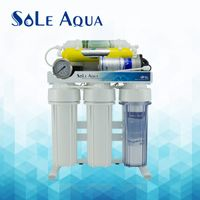 Taiwan 6 stages stand type with 2.5 inch gauge ro water purifier