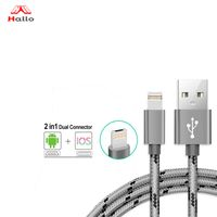 iPhone Charger Lightning Cable and Micro USB Cable 2 in 1 Dual Charging Cable thumbnail image
