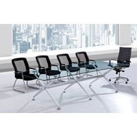 Whosale Modern Tempered Glass Top Conference Table in China Foshan