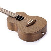 Small Hawaiian Guitar - Entry Level Mahogany Ukulele Kit Four Color Options Red Blue Dark Natural thumbnail image
