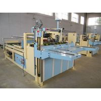 Semi-automatic carton gluing machine