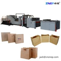 ZD-F350YS D-cut handles patch paper bag making machine ZNEP