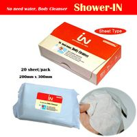Shower-IN20, sheet body cleanser,no need water