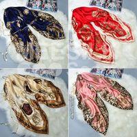 Hot Sale Fashion Printed Silk Scarf 100% Silk Long Scarves for Women