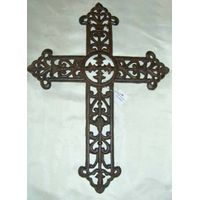 cast iron cross decoration