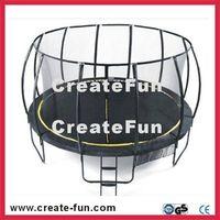 Createfun Fiberglass trampoline with basketball hoop