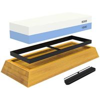 Wholesale whetstone Two sided Knife Sharpening Stone with Base