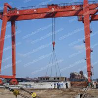 Shipbuilding double girder gantry crane