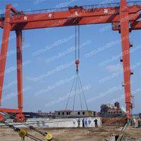 Shipbuilding double girder gantry crane