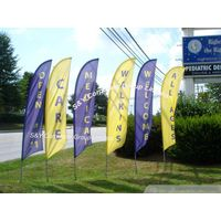 Custom outdoor advertising stand feather angled flag