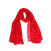 Wholesale Woman Summer Beach Scarves Custom Printed 100% Cotton Voile Scarf