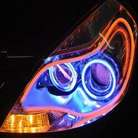 2015 new product Dual Color switchable flexible led daytime running light