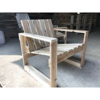 Rustic wooden chair study