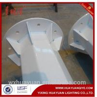 hot dip galvanized octagonal steel pole