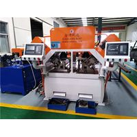 CNC hydraulic punching machine with five workstation for square tube