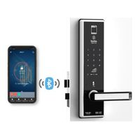 Smartapp bluetooth door lock BABA-8201 Swipe Card Fingerprint Opening Keyless Entry Handle Door Lock