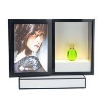 Acrylic Makeup Organizer Perfume Display Rack Cosmetic Advertising LED Display Stand 7454