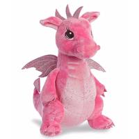 YiKang Pink Stuffed Dragon Animal Plush Toys Sparkle Sequin Soft Wings Plush Stuffed Dragon Toys thumbnail image