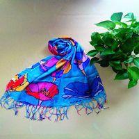 Premium Soft Viscose Flower Floral Print Scarf - Different Colors Available