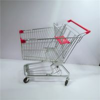 High Quality Four Replacement Wheels Shopping Trolley Cart with Child Seat for Supermarket Shopping