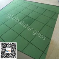 Dark green reflective float glass-off line