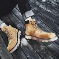 2019 new Martin boot men's casual Korean version snow desert vintage leather workwear high-top shoes