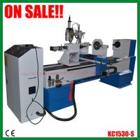 Wood turning cnc lathe machine with engraving function KC1530-S