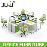 MFC office partition durable with metal legs and drawer
