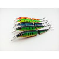 10cm/9.5g jointed hard plastic lures artificial minnow fishing lures