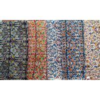 Kalamkari hand blocked silk fabric thumbnail image