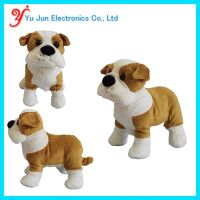 Interactive Animated Walking Pet Electronic Dog Plush Sound Control Toy Puppy - Barks, Sits, Walks