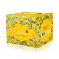Natural Blossom - Baby Disposable Diapers Hypoallergenic for Sensitive Skin, Size 2 / S (9-18 lbs)