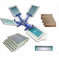 176adb32 FAST and FREE shipping! 4 color 1 station silk screen printing kit t-shirt