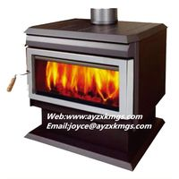 12kw free standing Steel Plate Wood Burning Stove with CE approved. thumbnail image