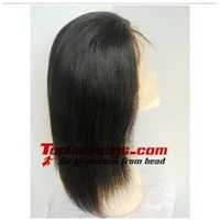Stock 14 inch Yaki Straight Indian Remy Hair Full Lace Wigs with baby hair thumbnail image
