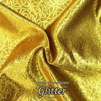24K Gold  Plated Fabric with Nanocoating - Jacquard Fabric G-JQ01