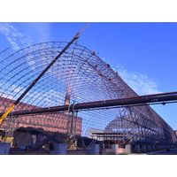 Galvanized Steel Structure Space Frame Arch Dry Coal Storage Shed