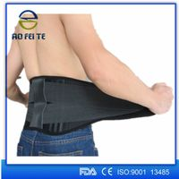 Medical elastic lumbar back support brace waist trainer protector band thumbnail image