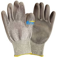 13 Guage HPPE Seamless Knitted Shell With PU Dipped Anti Cut Work Gloves BGDP101 thumbnail image