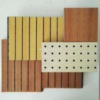 fire rated wooden grooved slats acoustic panel