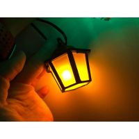 Red LED Camping Lantern Party String Lights. Novelty String Lights Western Camper Lantern String Lig thumbnail image