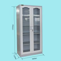 Metal 2 glass door steel file caninet office furniture thumbnail image