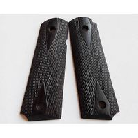 colt 1911 ebony wood grips 002-1