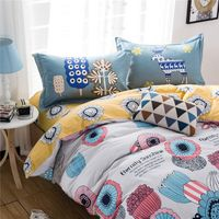 Buy Cheap Queen and King 100 Cotton Print Pattern Bed Sheet Sets and Quilt Cover Sets Online